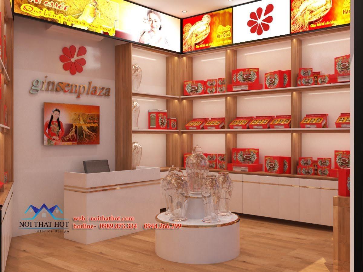 Thiết kế cửa hàng sâm Ginsenplaza.com 2