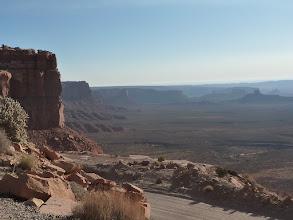 Photo: Vue de la Valley of Gods en  cours de montée.