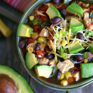 15-Minute Mexican Chicken Soup with Avocado.