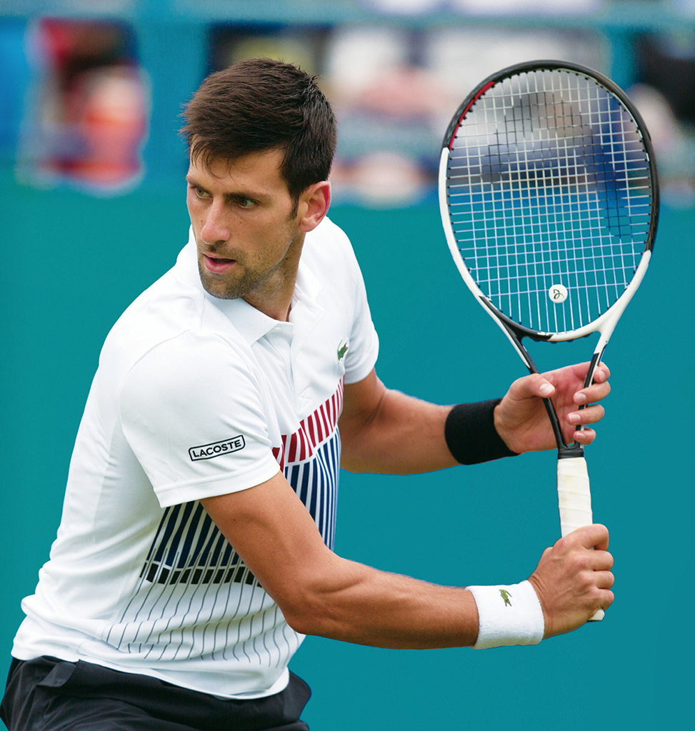 Novak Djokovic does not wear a watch during games but sports the Seiko Astron SSE143 off court