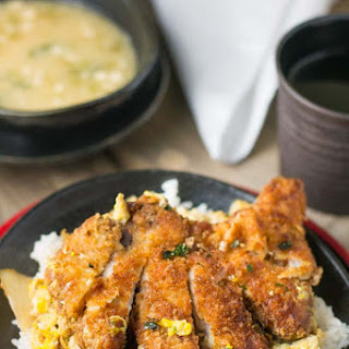 Katsudon (Japanese Pork Cutlet on Rice).