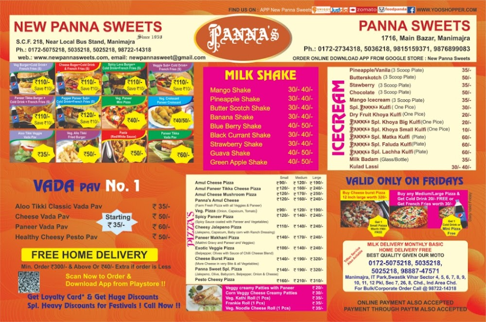 New Panna Sweets menu 4