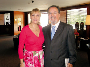 Photo: Ainhoa Arteta, tras la entrevista concedida a Amado Moreno en Las Palmas de Gran Canaria. Junio de 2009.