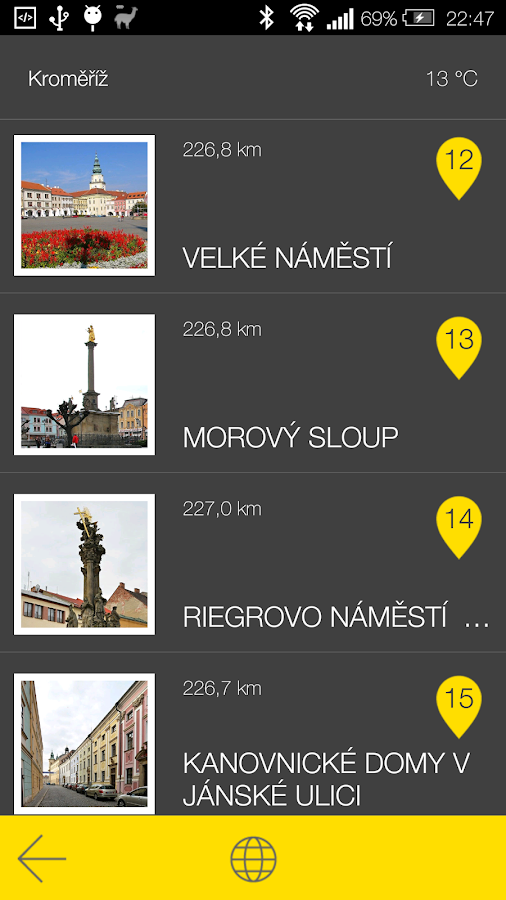 Kroměříž - audio tour- screenshot