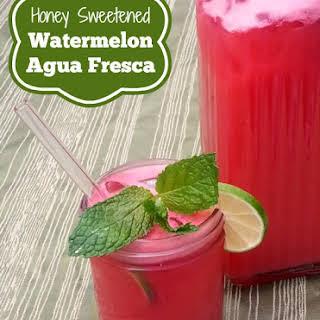 Honey Sweetened Agua Fresca.