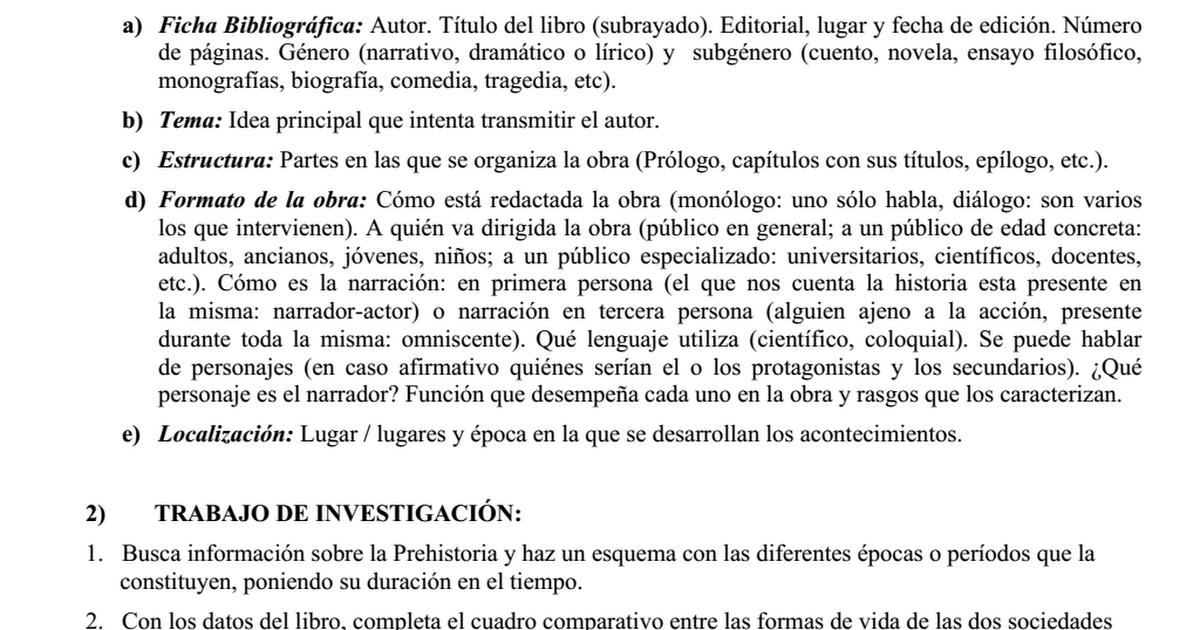 Trabajo de Lectura-El sol no se detiene (1º E.S.O., Prehistoria).doc ...