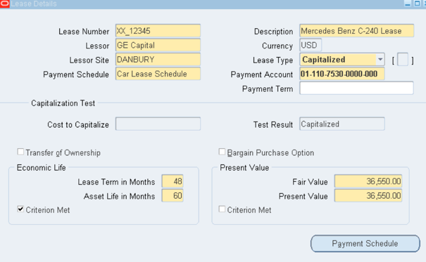 Oracle Fixed Assets Configuration Examples