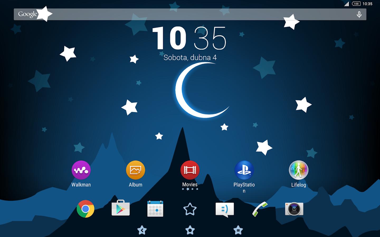 Google themes christmas - Starry Night Theme Screenshot