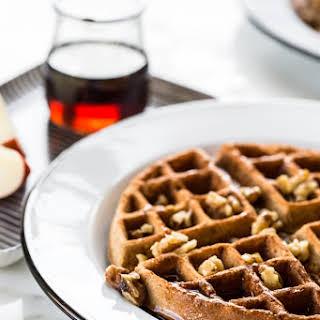 Cinnamon Apple Buckwheat Waffles.