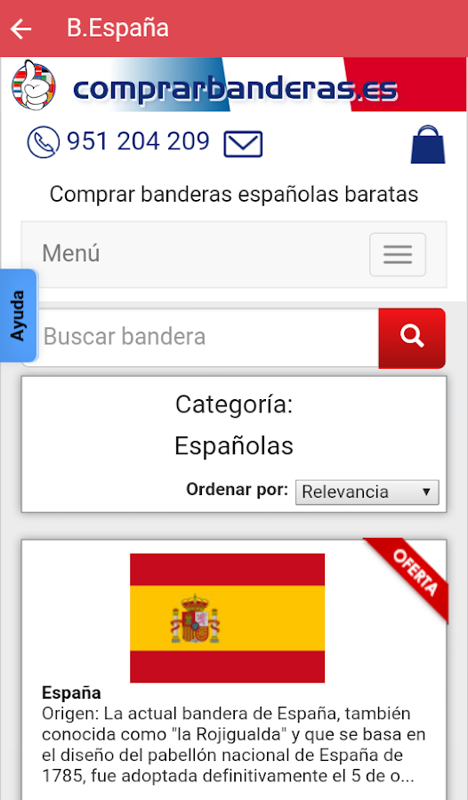 Tienda On-line de banderas- screenshot