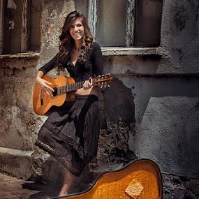 Gipsy Musician by Bojan Dzodan - People Portraits of Women