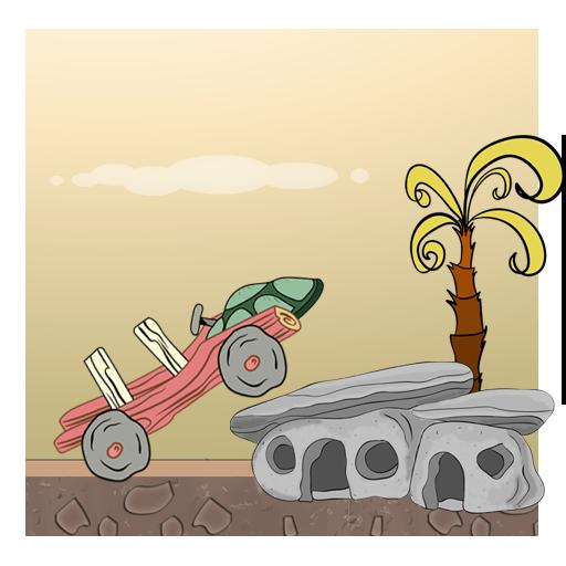 Hill Racing : Stone Age Car Climb