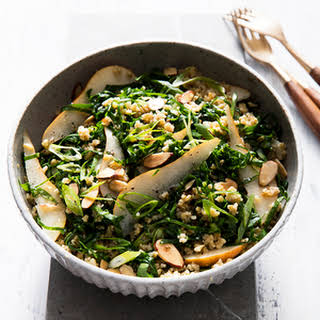 Collard Greens Salad with Freekeh.