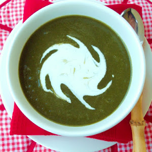 Spinach Soup With Watercress