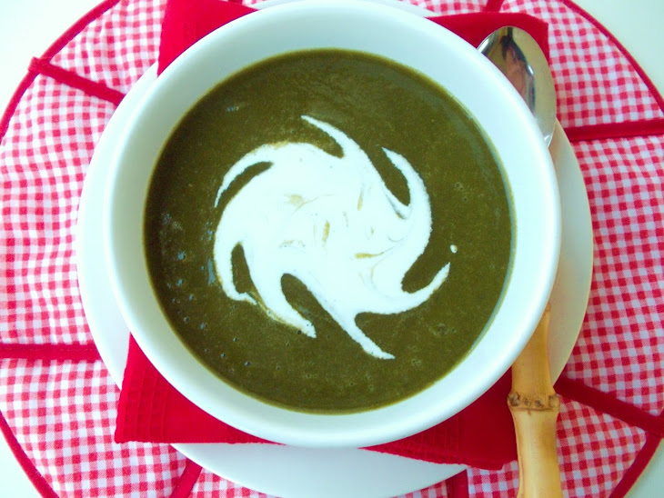 Spinach Soup with Watercress Recipe