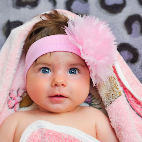 Blue eyes by Costi Manolache - Babies & Children Babies ( nice smile, girl, blue, pink, baby, eyes )