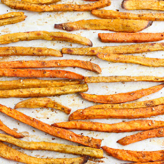 Baked Sweet Potato Fries with Za'atar