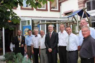 Photo: President Klaus and his Board of Directors of the Rotary Club of  Eberbach, Germany. - 2009-2010 Rotary Year