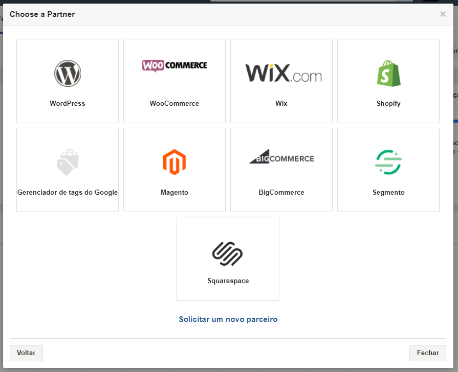 Integração facebook com plataformas