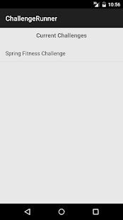 ChallengeRunner Android - náhled