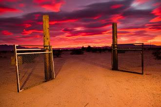 Photo: Blood Red Sky - Twentynine Palms, CA