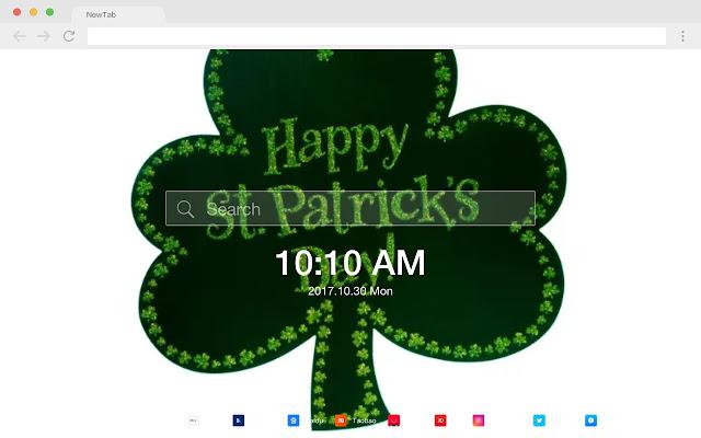 Saint Patrick's Day HD Pop New Tabs Theme