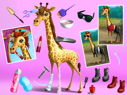 Jungle Animal Hair Salon - Styling Game for Kids android2mod screenshots 16