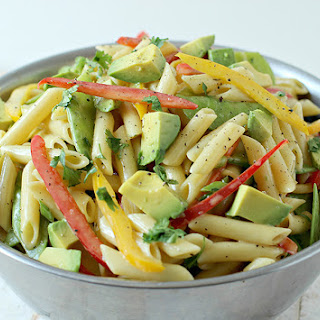 Avocado Dijon Pasta Salad.