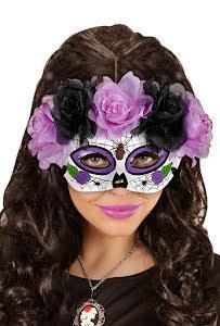 Day of the dead ögonmask, lila