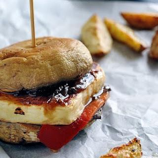 Mushroom Haloumi Burgers Recipe