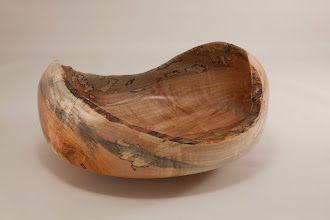 "Photo: Richard Webster 8"" x 4"" natural-edge bowl [spalted maple]"