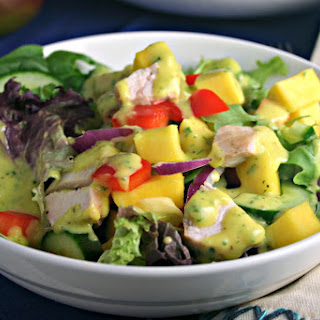 Chopped Chicken Salad with Mango Vinaigrette.