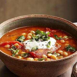 Tomato and Chickpea Soup.