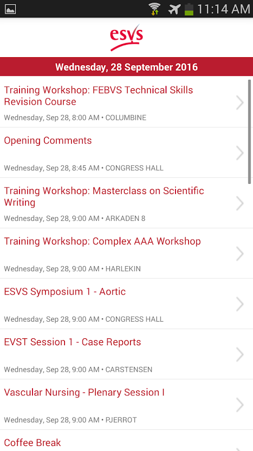 ESVS 2016- screenshot