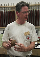Photo: Duane Schmidt talks about his sphere experiment after watching the Hosaluk demo.