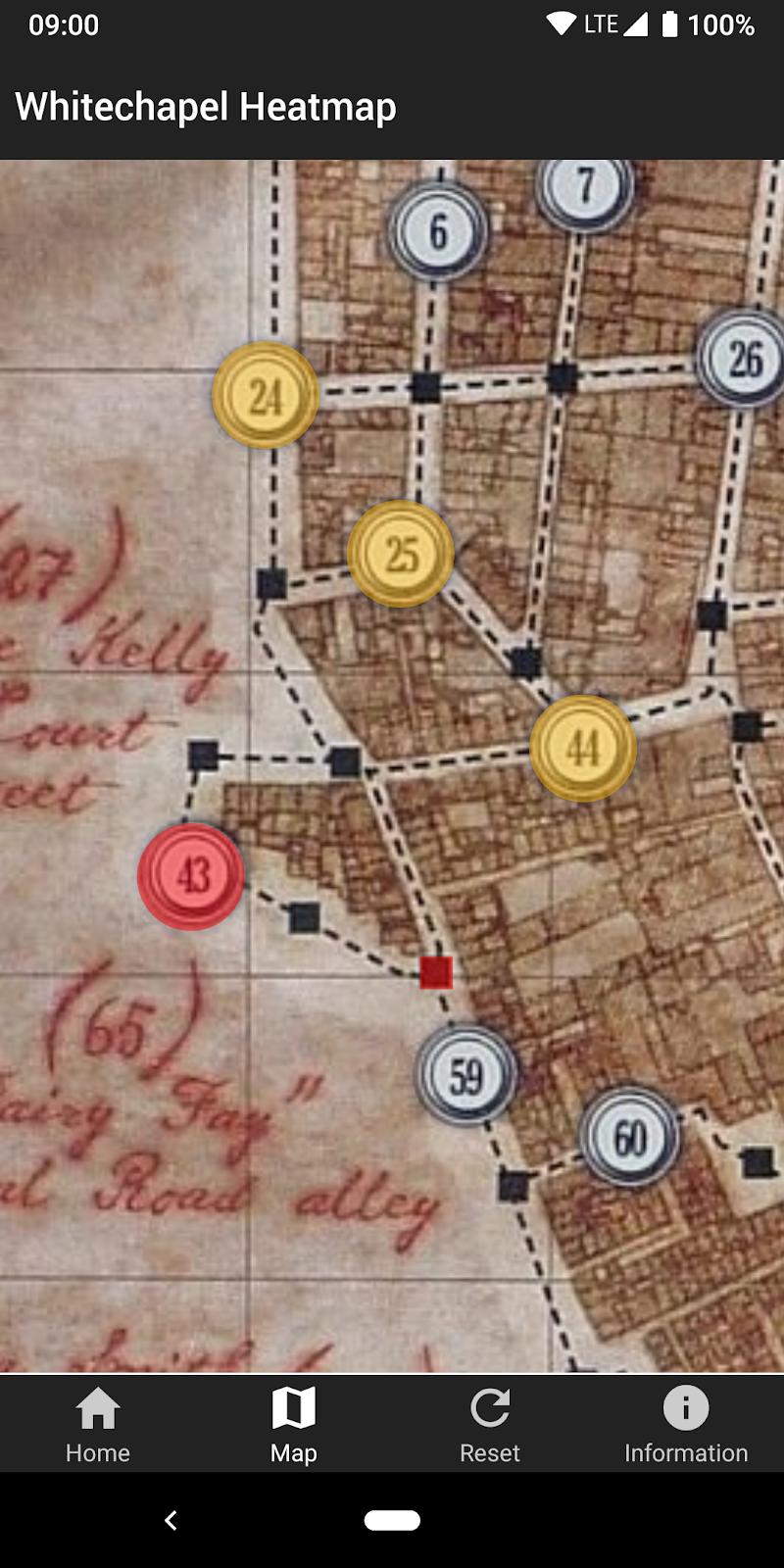 Whitechapel Heatmap Screenshot 3