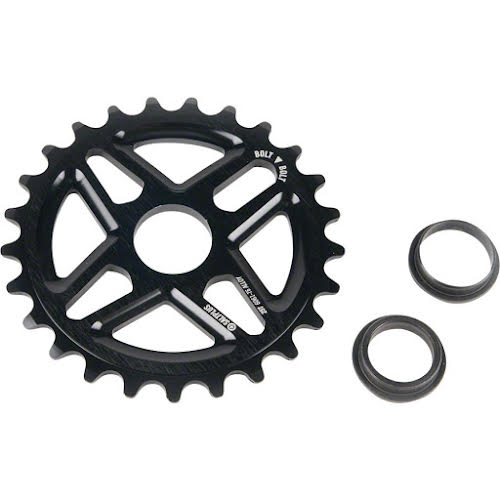 Salt Plus Center Bolt Drive Sprocket 28t Black Includes Adaptors for 19mm and 22mm Spindles