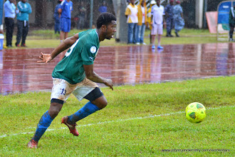 Photo: Michael Lahoud makes his international debut for the Leone Stars [Leone Stars Vs. Equatorial Guinea, 7 Sept 2013 (Pic: Darren McKinstry)]