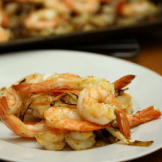 Lemon Shrimp with Mustard-Herb Roasted Onions Recipe