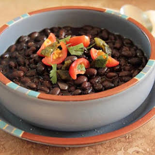 Pressure Cooked Black Beans.