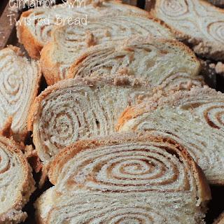Cinnamon Swirl Twisted Bread.