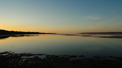 Photo: Sunset over the Hutt Lagoon, just east of Port Gregory, Western Australia