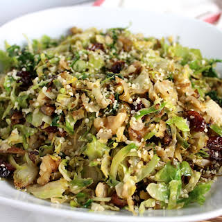 Shaved Brussels Sprout Salad.