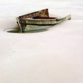 Abandoned by Martha van der Westhuizen - Landscapes Beaches ( sand, stranded, wreck, beach, boat, abandoned, landscape,  )
