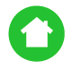 Safety history green house icon