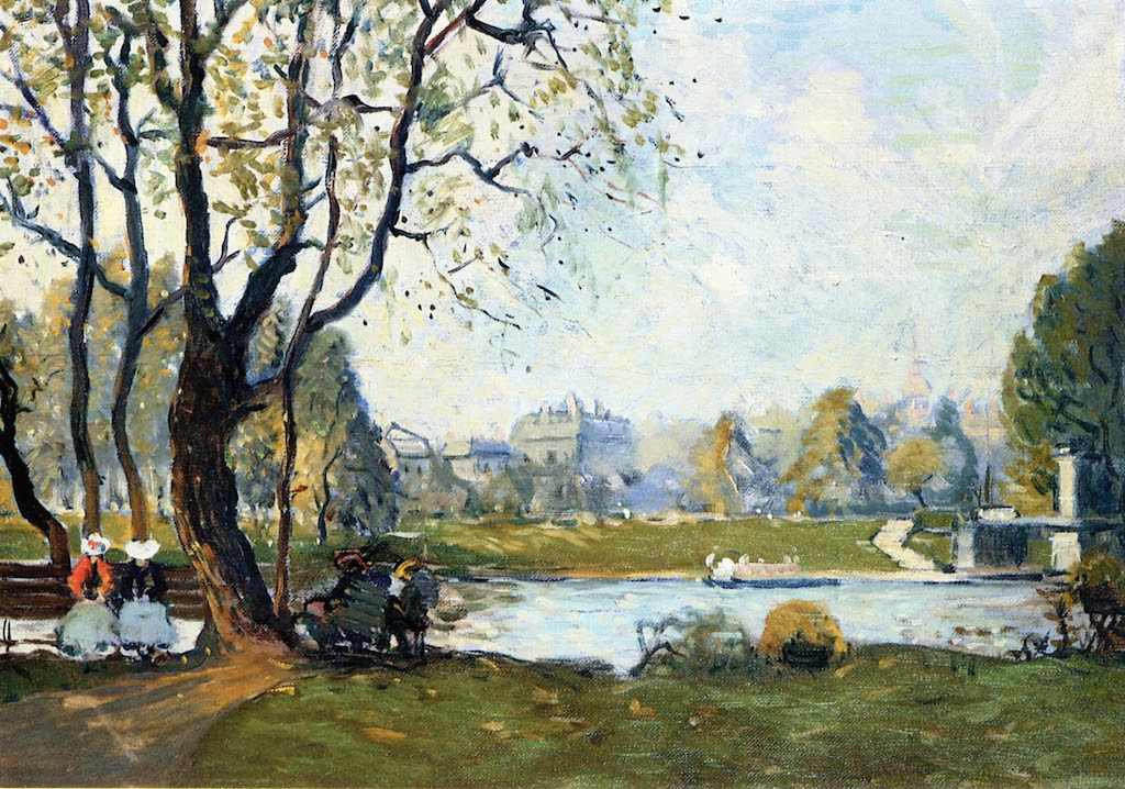The Boston Public Garden in Spring Arthur Clifton Goodwin (1864 - 1929)