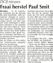 Photo: DCIJ-nieuws Fraai herstel Paul Smit. 31 maart 2011