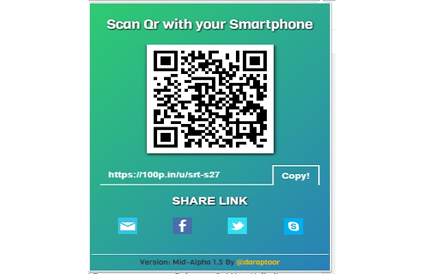Quick QR and Shortcode for any Website.