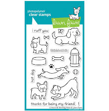 Lawn Fawn Clear Stamps 4X6 - Critters At The Dog Park