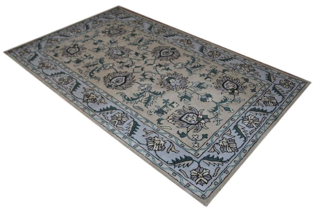 brązowy subtelny dywan persian ziegler wełniany ręcznie tkany 155x245 tradycyjny kwiatowy